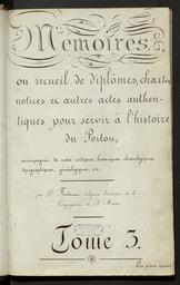 Tome III. CA [Docs provenant d'archives]. Iere série. Tome 3 |